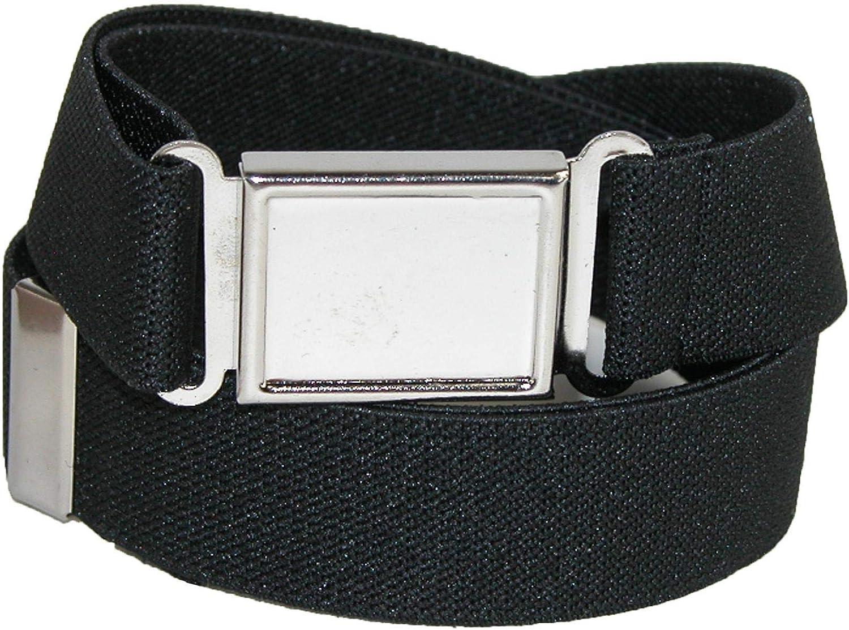 CTM Kids' Adjustable Elastic Belt with Magnetic Buckle