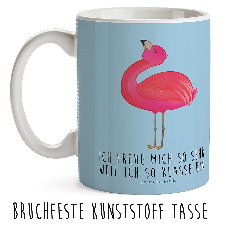 Mr Kindertasse Flamingo stolz mit Spruch /& Mrs Panda Kaffeetasse Tasse Farbe Aquarell Pink