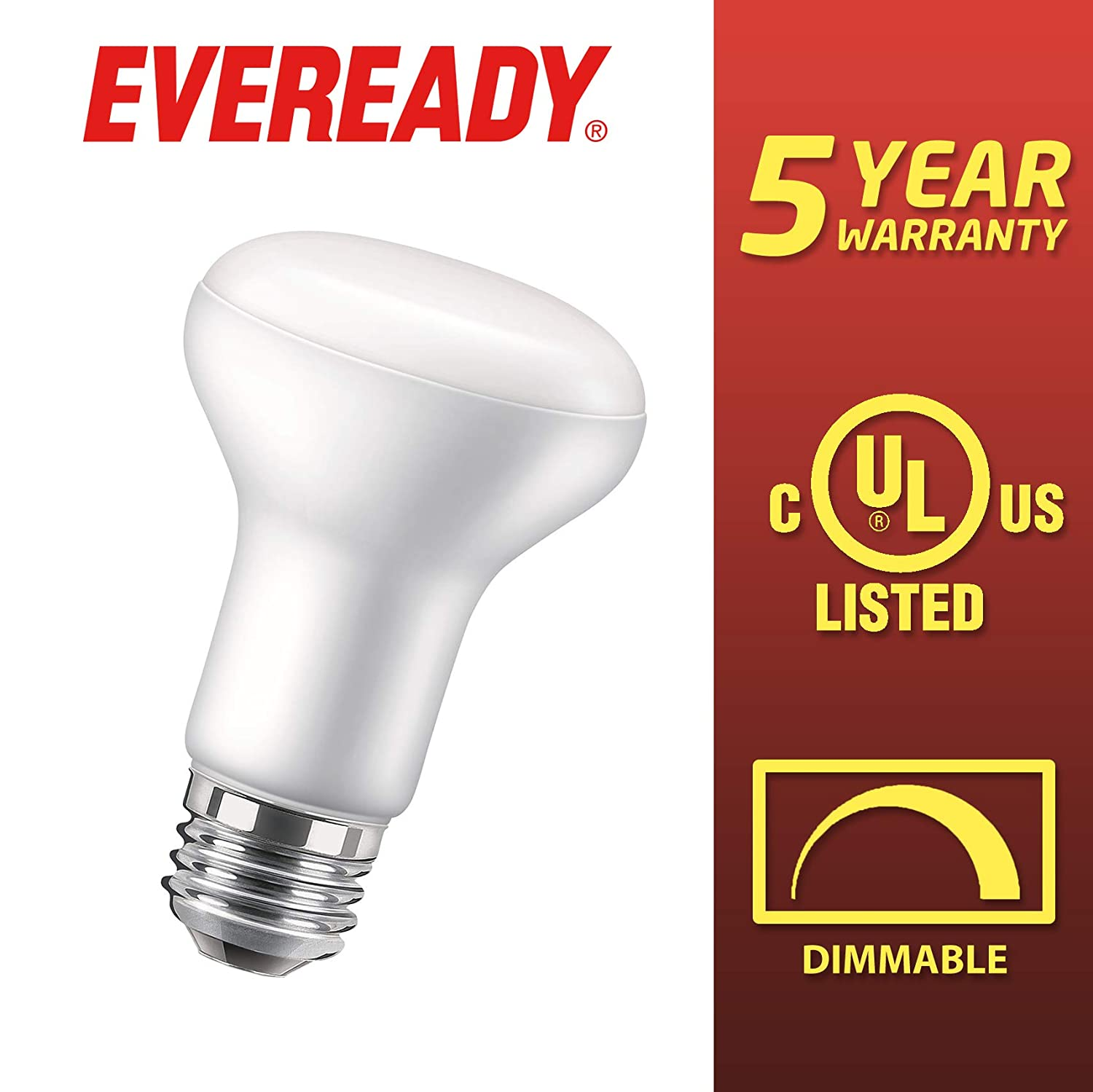 2700K Soft White Color 24 Pack 10W Flood Light 65W Equivalent E26 Base 25,000 Hours Lighting Lifespan Energy Star Certified Eveready BR30 LED Dimmable Light Bulbs UL Listed 850 Lumens