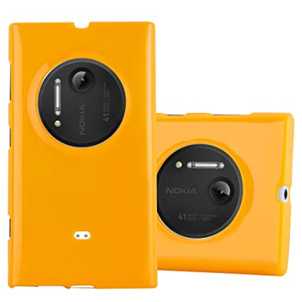 huge discount 44fd4 67a8c Cadorabo Case Works with Nokia Lumia 1020 in Jelly Yellow – Shockproof and  Scratch Resistant TPU Silicone Cover – Ultra Slim Protective Gel Shell ...