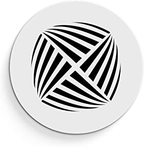 """SABA White Round Vent Cover - Acrylic Plexiglass 10"""" Air Duct Opening (12"""" Overall) Return Grille Decorative Covers for Walls & Ceilings NOT for Floor USE, Aria"""