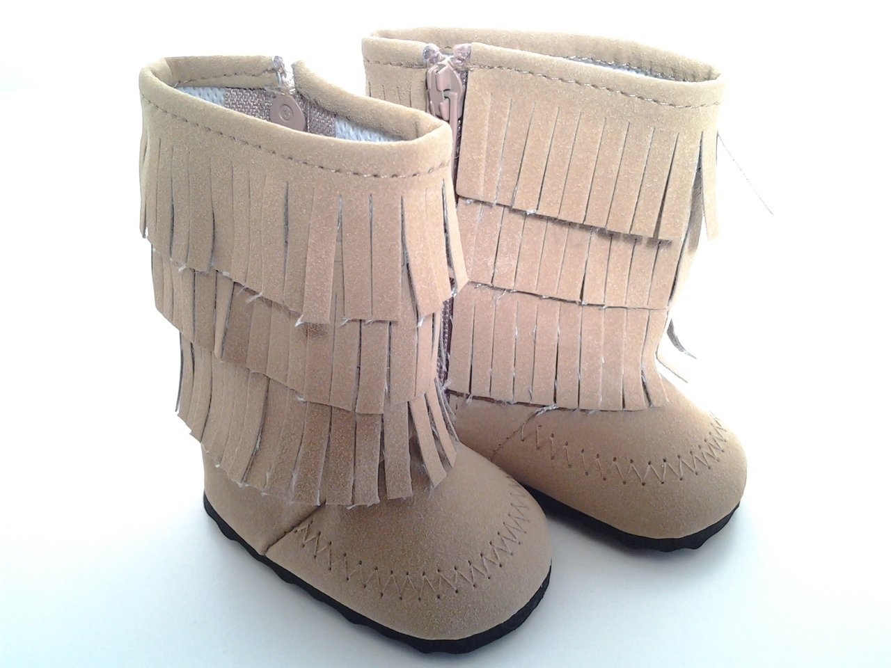 BROWN FRINGE BOOTS FOR AMERICAN GIRL DOLLS Brittany' s