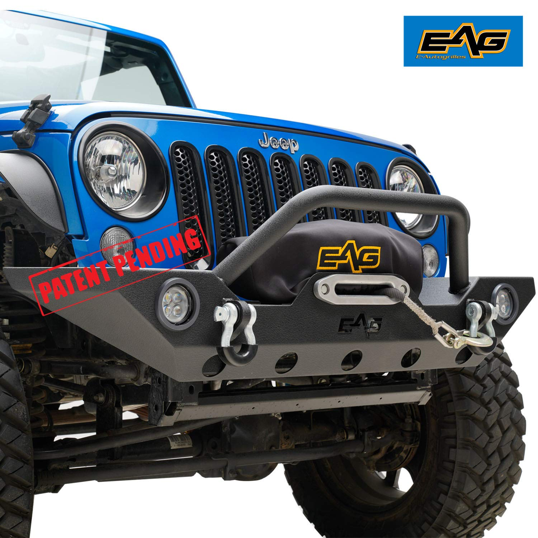 amazon com eag 07 18 jeep wrangler jk front bumper with led lights rh amazon com