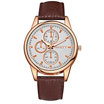 ed00d234c5 Rockyu ブランド 人気 レディース メンズ 腕時計 オシャレ サファイアガラス 海外ブランド ブラウン クロノグラフ メンズ時計