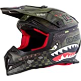 ONeal 5 SRS Mens Off-Road War Hawk Helmet (Black/Green
