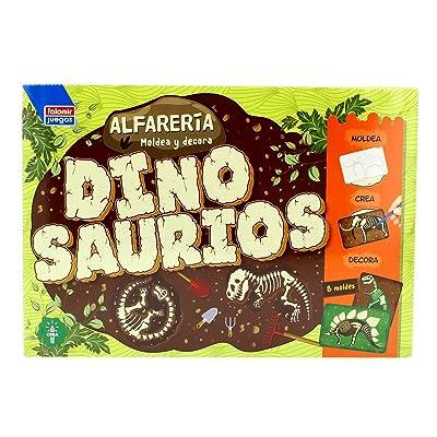 Falomir- Alfarería Dinosaurios Bandeja con moldes (28439): Juguetes y juegos