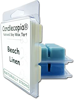 product image for Candlecopia Rain Water, Sea Mist and Beach Linen Strongly Scented Hand Poured Vegan Wax Melts, 18 Scented Wax Cubes, 9.6 Ounces in 3 x 6-Packs