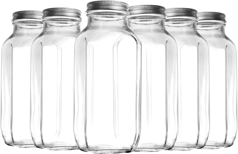 16 Oz Botella De Agua De Vidrio Para Bebidas Exprimidor