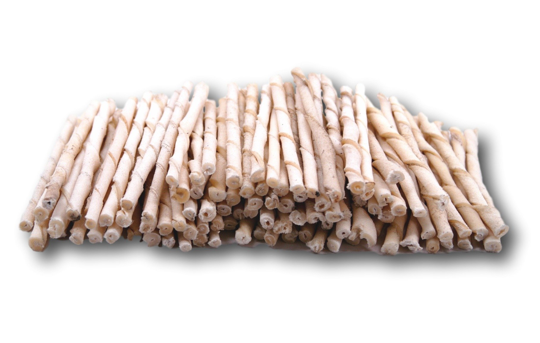 Top Dog Chews Rawhide Natural Twist Sticks -Pack of 100 From Regular