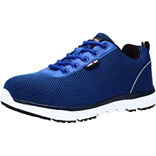 LARNMERN Steel Toe Work Safety Shoes Men Reflective Casual Breathable Outdoor Sneakers, LM30K (9, Royal Blue)