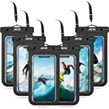 JOTO 6 Fundas Impermeables Universales para Celulares, Bolsa Sumergible para iPhone 12 Mini/Pro/XS MAX/XR/8 Plus/7 Plus, Gala
