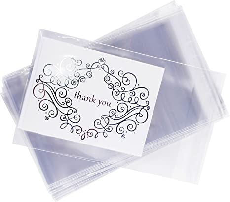 A8+ Clear Card Resealable Cello Poly BOPP Bags 500 Pcs 5 5//8 x 8 1//4