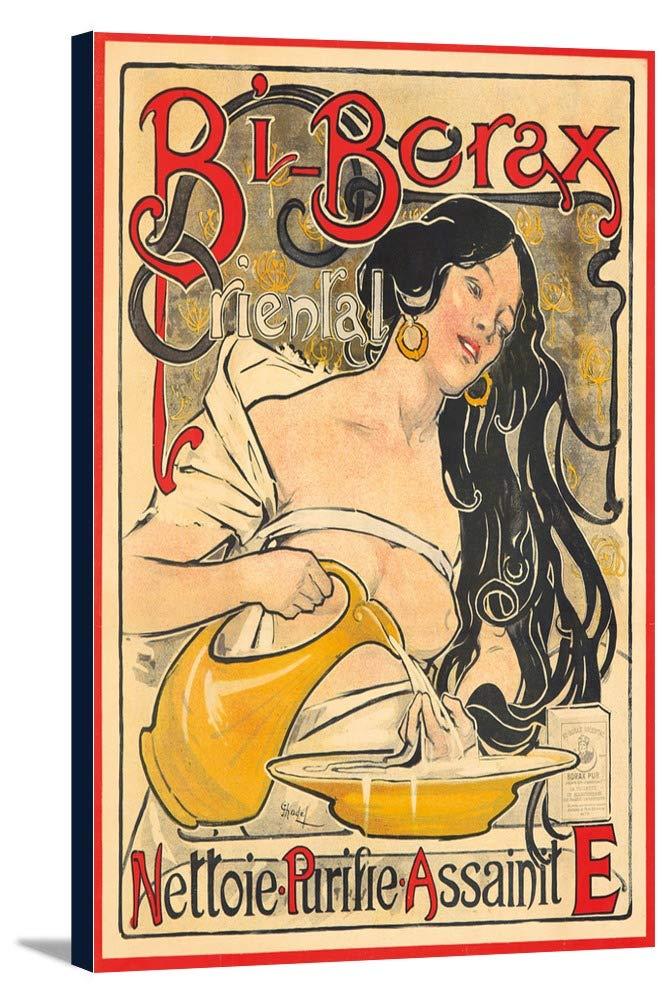 bi-boraxヴィンテージポスター(アーティスト: Chadel )フランスC。1897 12 x 18 Gallery Canvas LANT-3P-SC-73949-12x18 12 x 18 Gallery Canvas  B01DZ21YKY