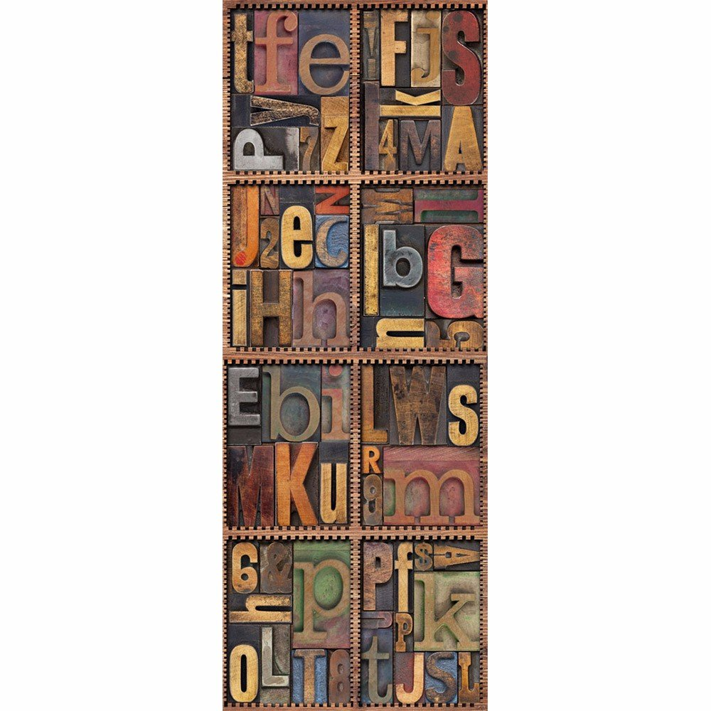 Buluke Creative alfabeto decorativo logo adesivo frigo, 60*150