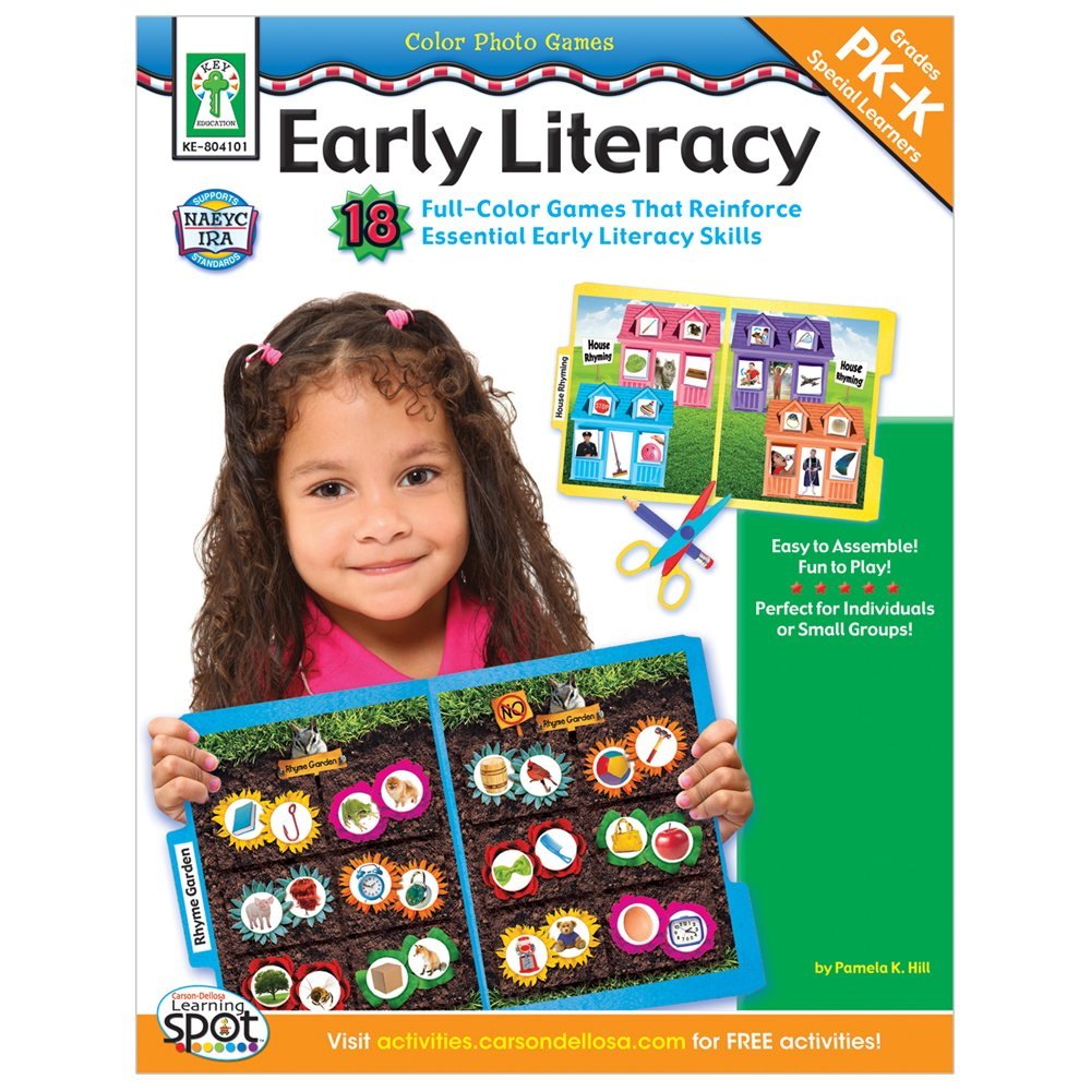 Download Color Photo Games: Early Literacy, Grades PK - K: 18 Full-Color Games That Reinforce Essential Early Literacy Skills pdf