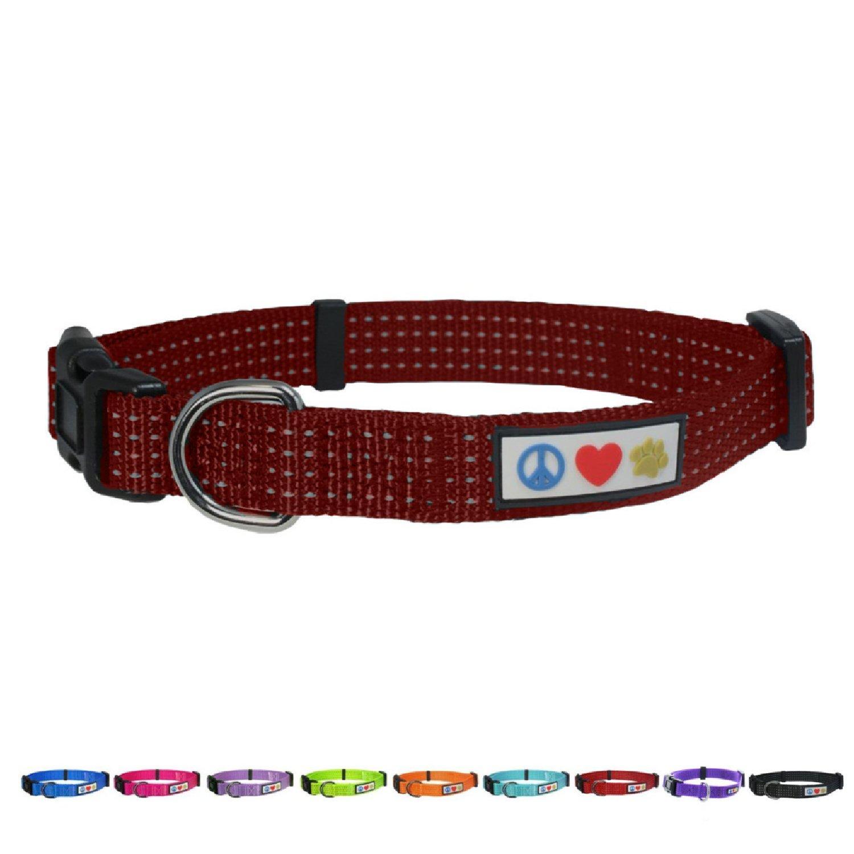 Pawtitas Collar Reflectante Collar de Perrito Collar de Mascota Collar de Entrenamiento Pequeño Collar de Perro Lila Collar de Perro: Amazon.es: Productos ...