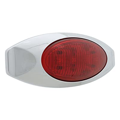 Vehicle Safety Manufacturing 2005 ML2K Red LED Marker Lamp with Chrome Bezel: Automotive