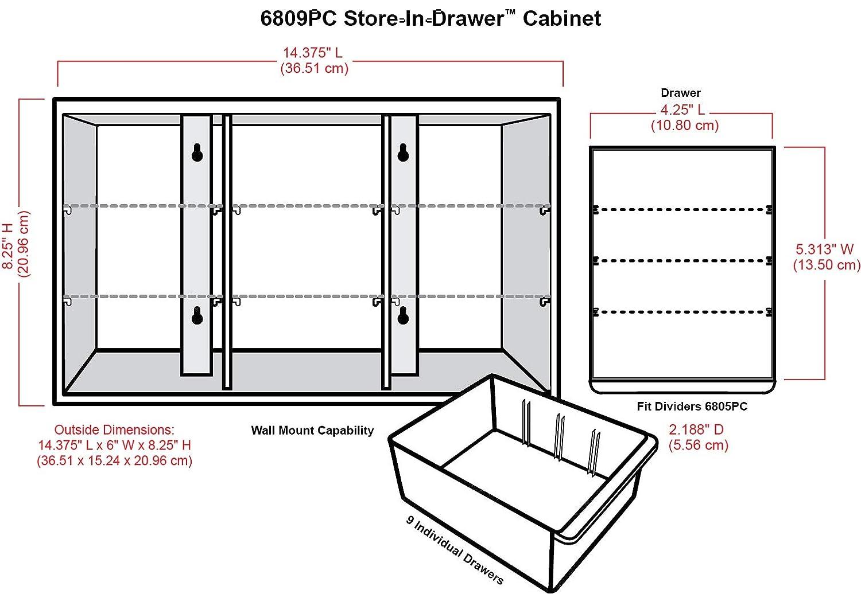 Amazon.com: ArtBin 6809PC - Cajonera con cajón, color blanco ...