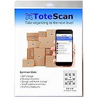 "ToteScan Intelligent QR Labels for organizing & Storage (45 Unique Labels, 2.5""x3"")"