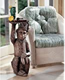 "29.5"" Wildlife Monkey Statue Sculpture Pedestal Stand Side Table"