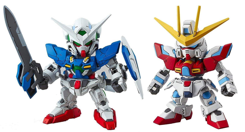 Japan Import 2 Bandai SD EX-Standard Gundam Assembly Models BJS EXIA GN-001 /& Try Burning TBG-001B