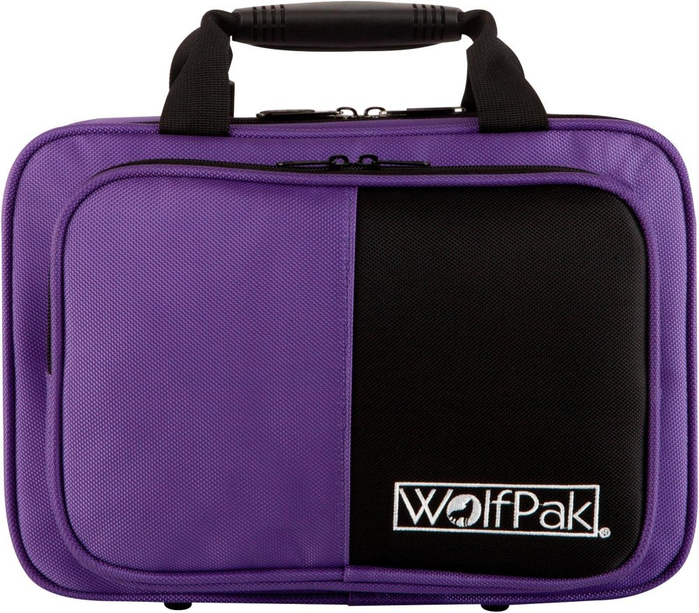 WolfPak Colors Series Lightweight Polyfoam Clarinet Case Purple