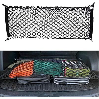 JOINAP Floor Style Trunk Cargo Net for 2020 Toyota RAV4 2013 2014 2015 2016 2020 2020 2020 31 x 24 Inches with 4 Mounting Hooks: Automotive