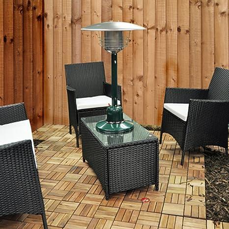 Elitezotec calefacción de terraza de Gas, calefacción de Mesa de jardín 4 kW, Ambiente