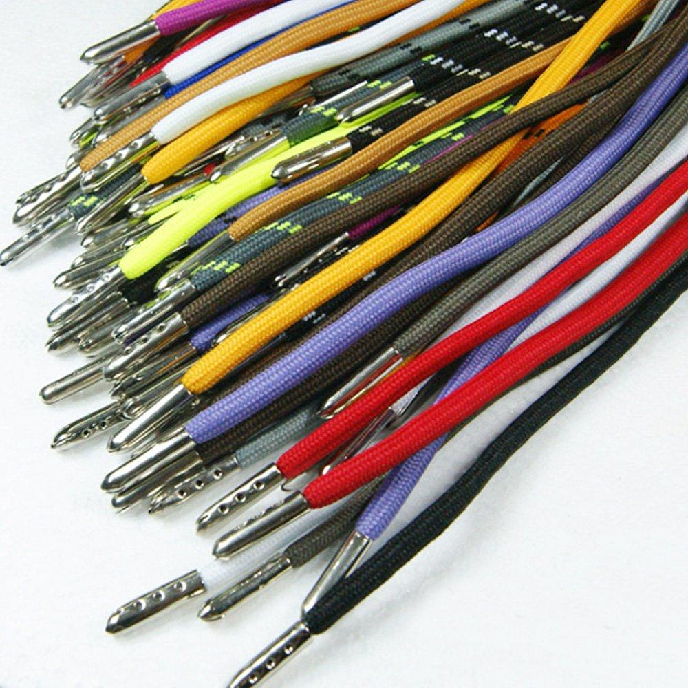 Bronze Bluemoona 50 Pcs Shoelace Bullet Metal Ends Aglet Repair Shoe Lace Tips Replacement DIY