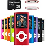 Mymahdi MP3/MP4 Portable Player,Red With 1.8 Inch LCD Screen and Micro SDHC Card Slot,Max Support 128GB Micro SD TF Card