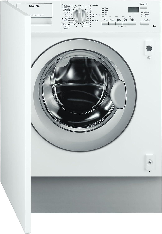 AEG L61470WDBI - Lavadora-secadora (Front-load, Integrado, Color ...
