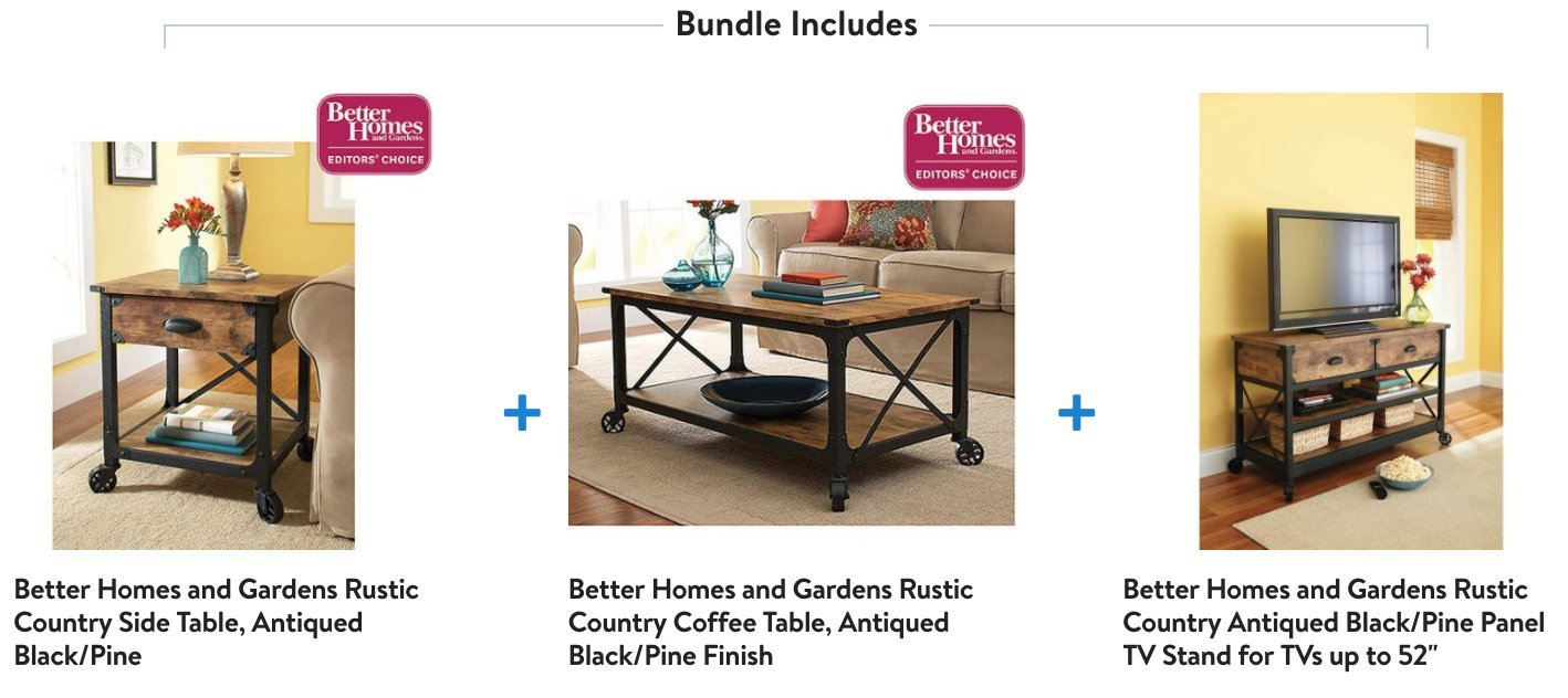 Amazon.com: Rustic Vintage Country Coffee Table, End Table U0026 TV Stand Set.  This Rustic Living Room Set Will Bring That Restored Vintage Feel To Your  Living ...