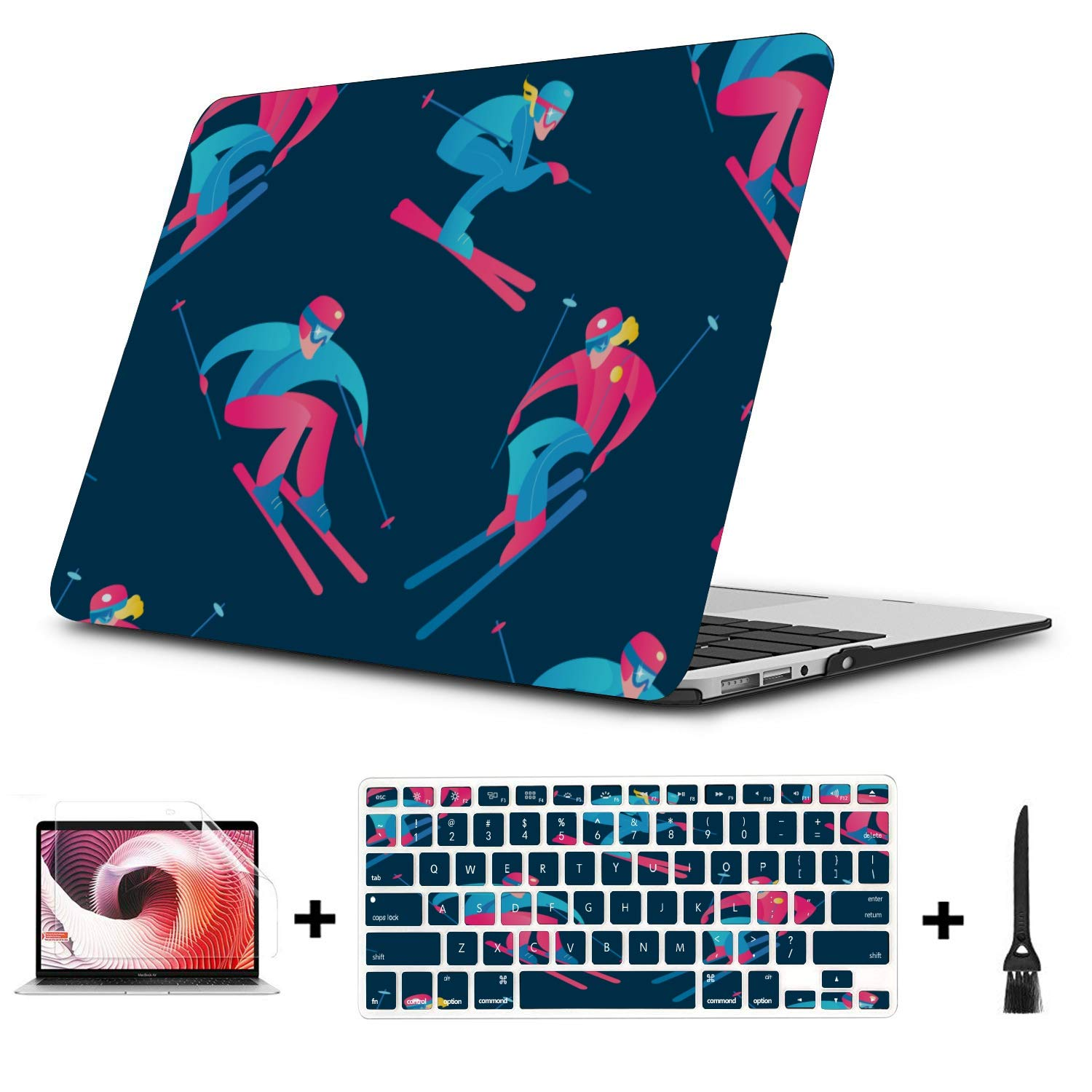 Mac Air Laptop Case Skiing Extreme Sports Entertainment Plastic Hard Shell Compatible Mac Air 11 Pro 13 15 MacBook Air Protective Case Protection for MacBook 2016-2019 Version
