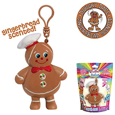 Whiffer Squishers Doughy Dave Slow Rising Squishy Toy Christmas Gingerbread Scented Backpack Clip: Toys & Games