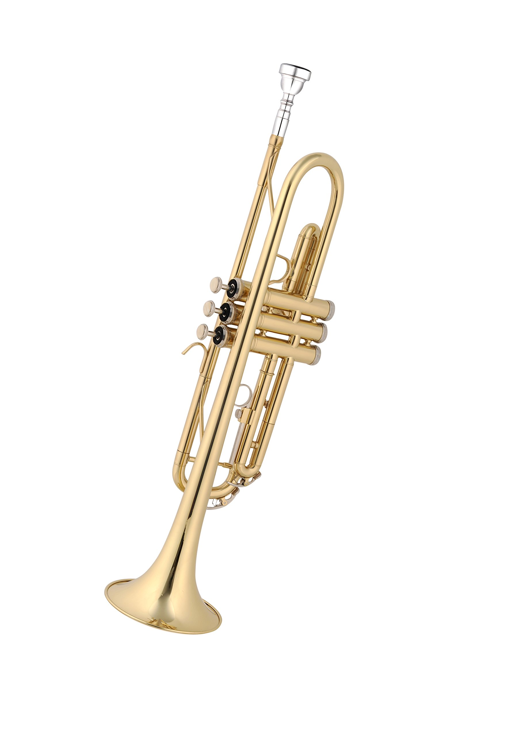 Aileen Lexington Gold Bb Key Student Model Trumpet Includes Hard Case, Cleaning Rod and Cloth, Gloves by Aileen (Image #2)
