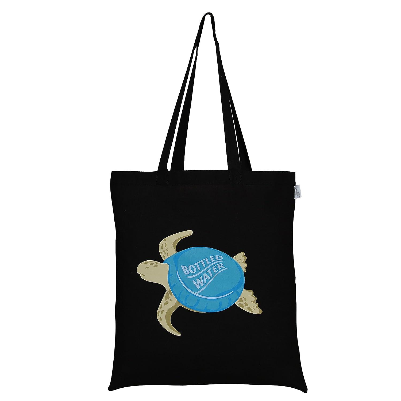 (Turtle (Black))EcoRight Reusable 100% Cotton EcoFriendly Tote Bag Printed