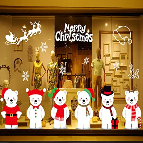 Amazon.com: Merry Christmas Window Clings Decal Wall Stickers: Home on stained glass decals, kitchen wall decals, security system decals, kitchen windows over sink, paint decals, kitchen art decals, fireplace decals, refrigerator decals, living room decals, kitchen floor decals, dining room decals, door decals, kitchen soffit decals, kitchen tile decals, kitchen shelf decals, kitchen cabinet decals, kitchen appliance decals, ceiling fan decals, pantry decals, bath decals,