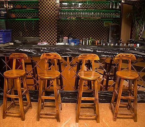 High stool QFF Sillas de Bar de Madera Maciza, Silla de ...