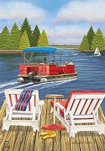 Briarwood Lane Dockside Summer House Flag Nautical Paddleboat 28