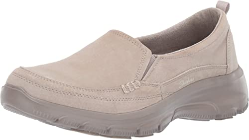 Skechers Womens Easy Going-Matcha-Twin Gore Slip-on Loafer