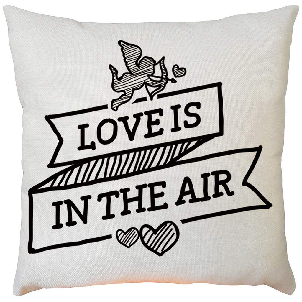 Weiliru Decorative Square Throw Pillow Covers Set Cushion Cover Fine Burlap Lined Linen Pillowcases for Sofa Bedroom Car