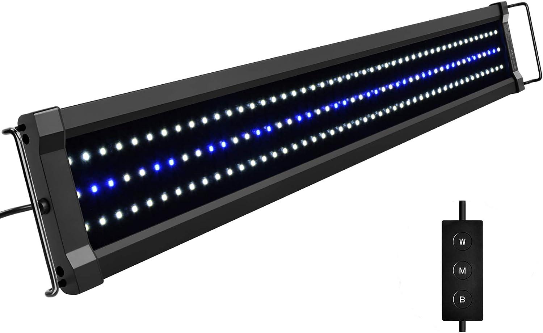NICREW ClassicLED G2 Luz LED Acuario, Iluminación LED para Acuarios, Pantalla LED Acuario Lámpara de Planta para Pecera, 75-95 cm, 25 W, 1910 LM