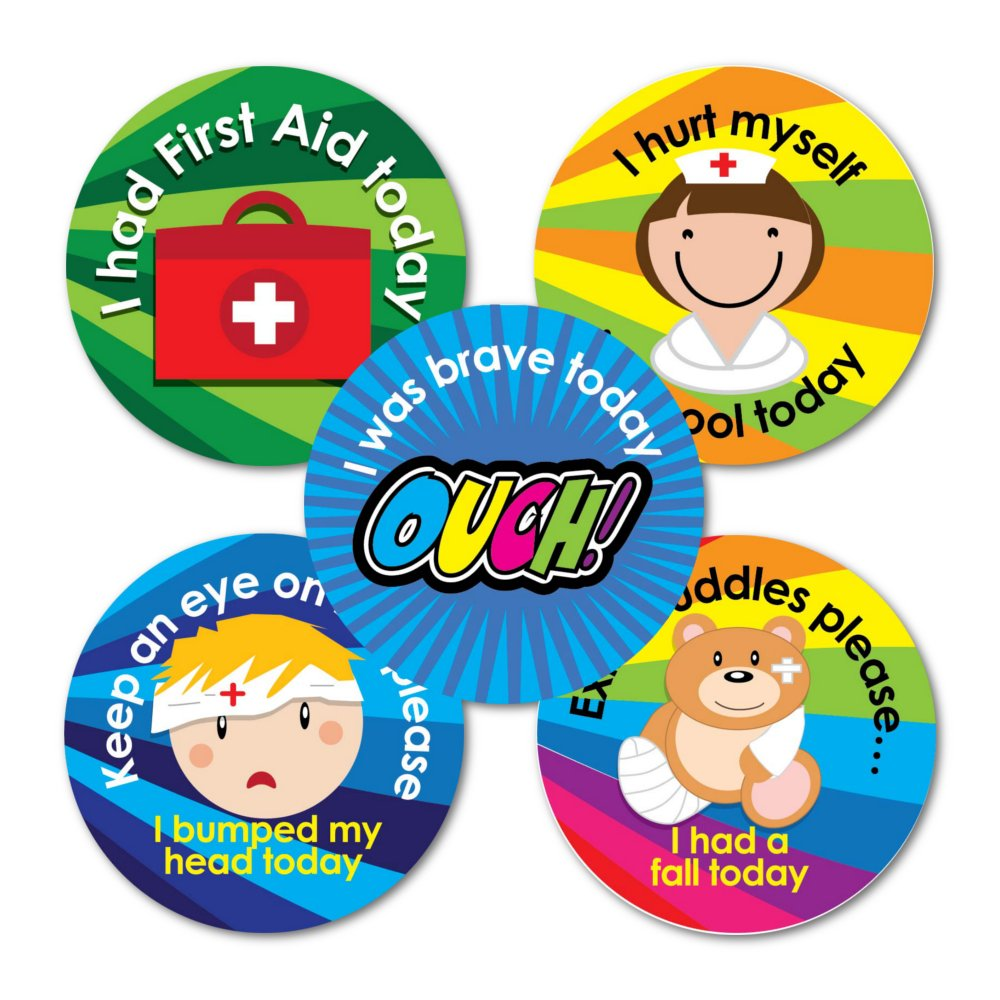 Pack of 125 Sticker Solutions 28 mmFirst Aid Including Bumped Head Sticker