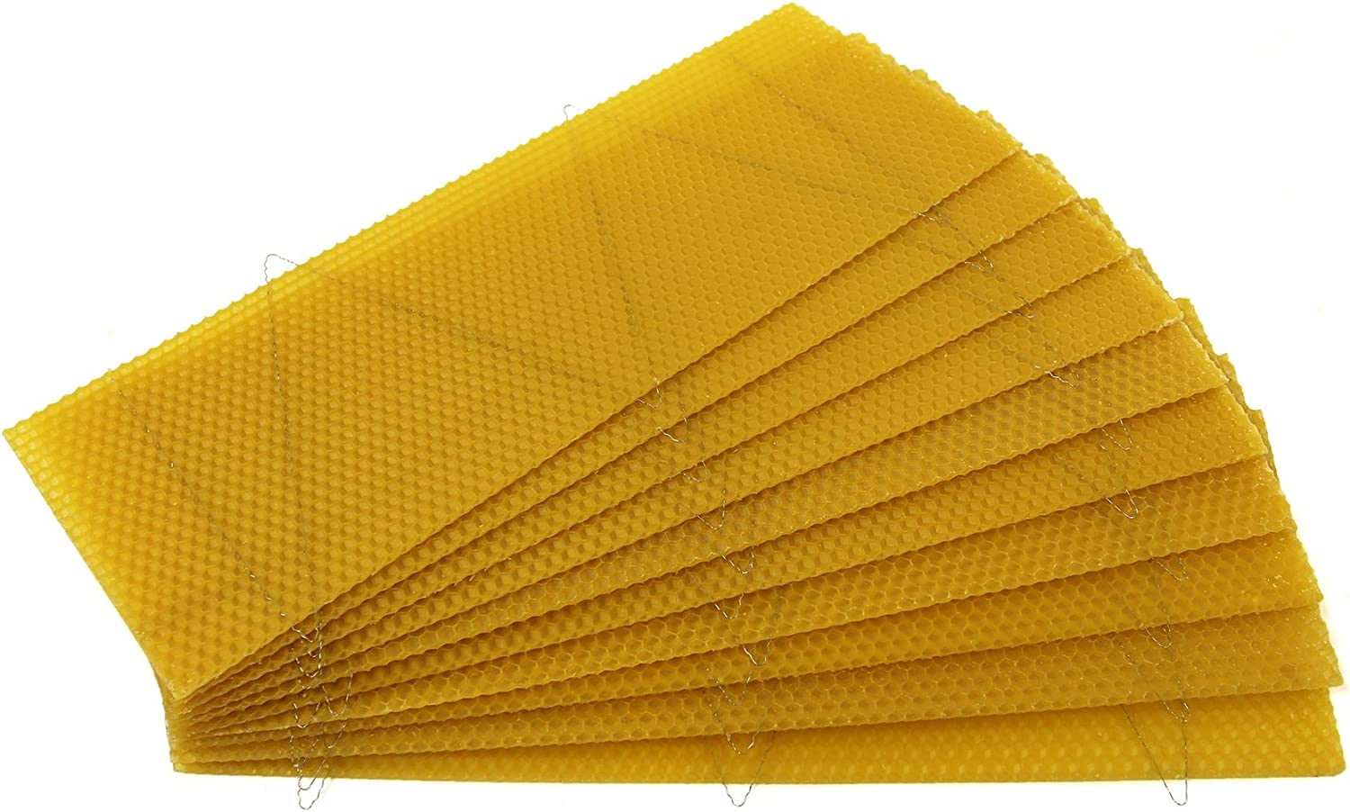 easibee National Bee Hive Super Wired 100/% Natural Beeswax Wax Foundation Sheets 10pcs 50