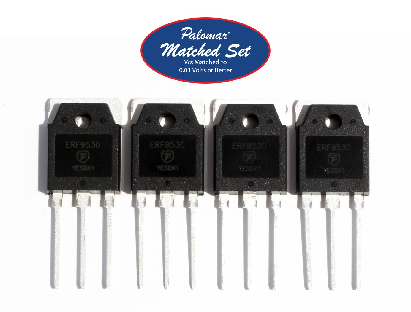 Matched Four (4) ERF9530 100 Watt PEP RF Power Mosfet Transistor in TO-3PN  Package