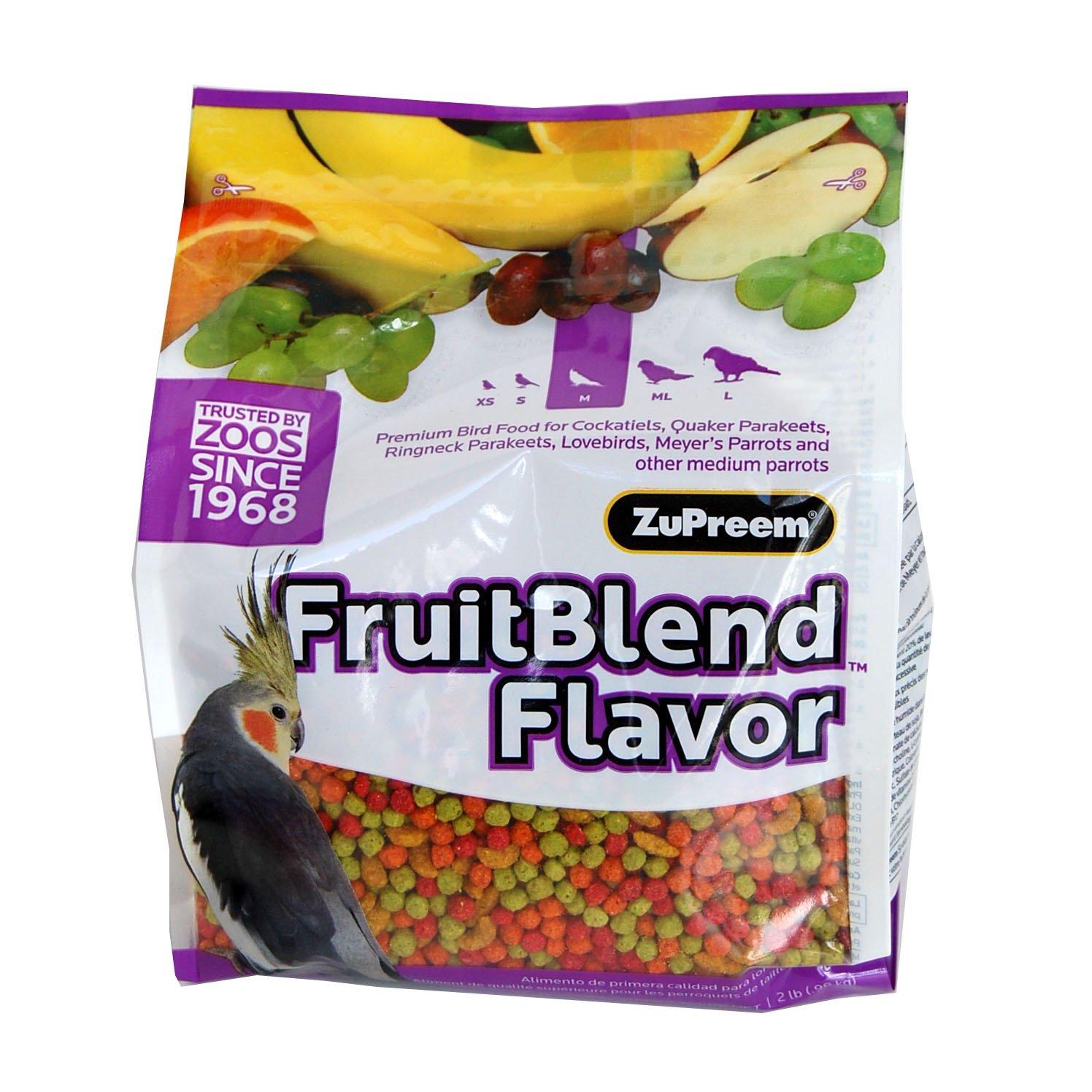 ZUPREEM 230340 Fruitblend Medium Tiel Caged Bird Food, 35-Pound