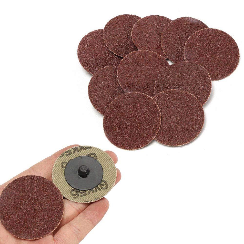 tampon de polissage outil de polissage Gasea Lot de 40 disques abrasifs en papier abrasif de 50 mm pour pon/çage de sable