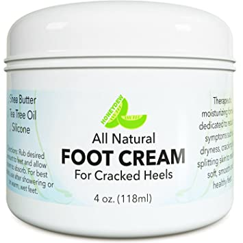 Natural Tea Tree Oil Foot Cream for Dry   Cracked Feet with Pure Coconut +  Shea 99a9fe2015