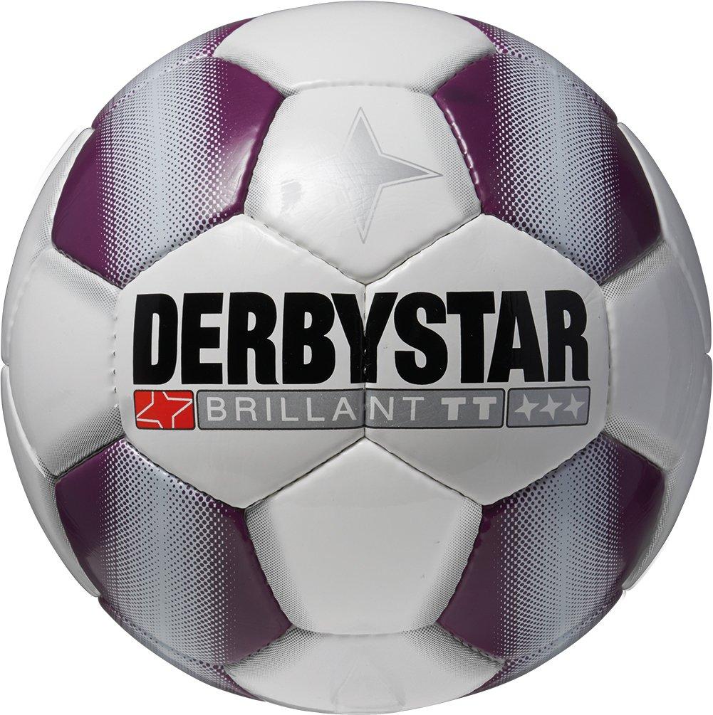 Derbystar Fußball Brillant TT - Balón de fútbol, color blanco/morado, talla 5 1720500190