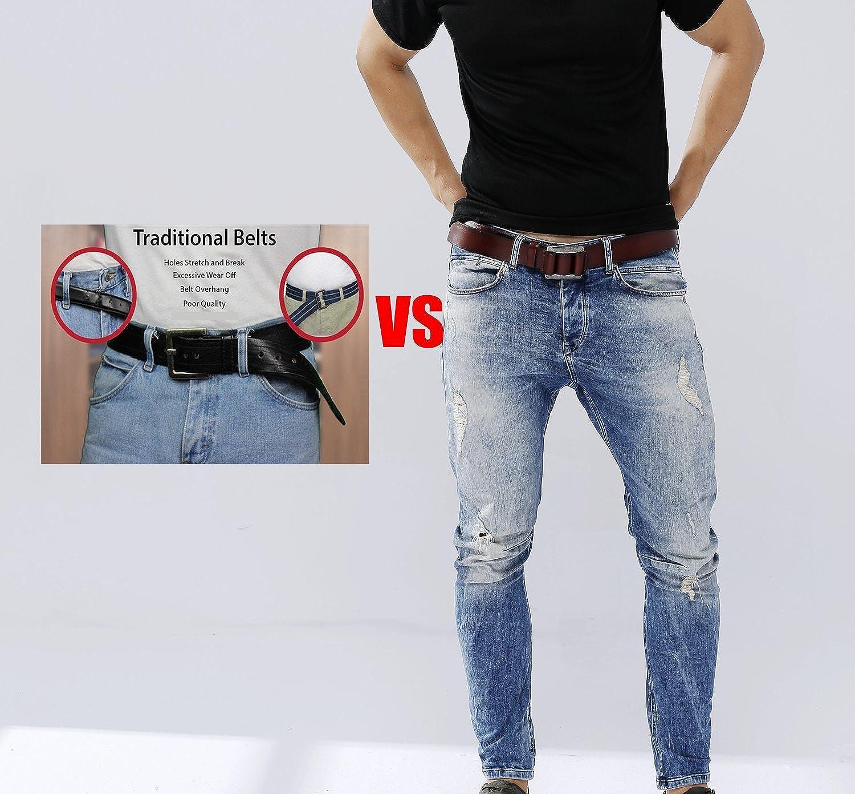 Amazon.com: Para hombre, de piel auténtica – Cinturón ...